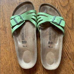 Green Birkenstock Sandals